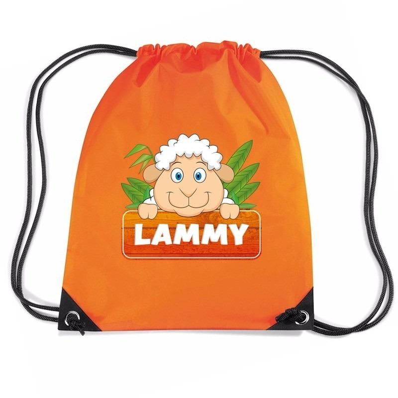 Lammy het schaap rugtas / gymtas oranje voor kinderen