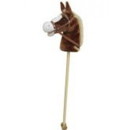 Lichtbruin stokpaard voor kinderen beweegt en maakt geluid 97 cm