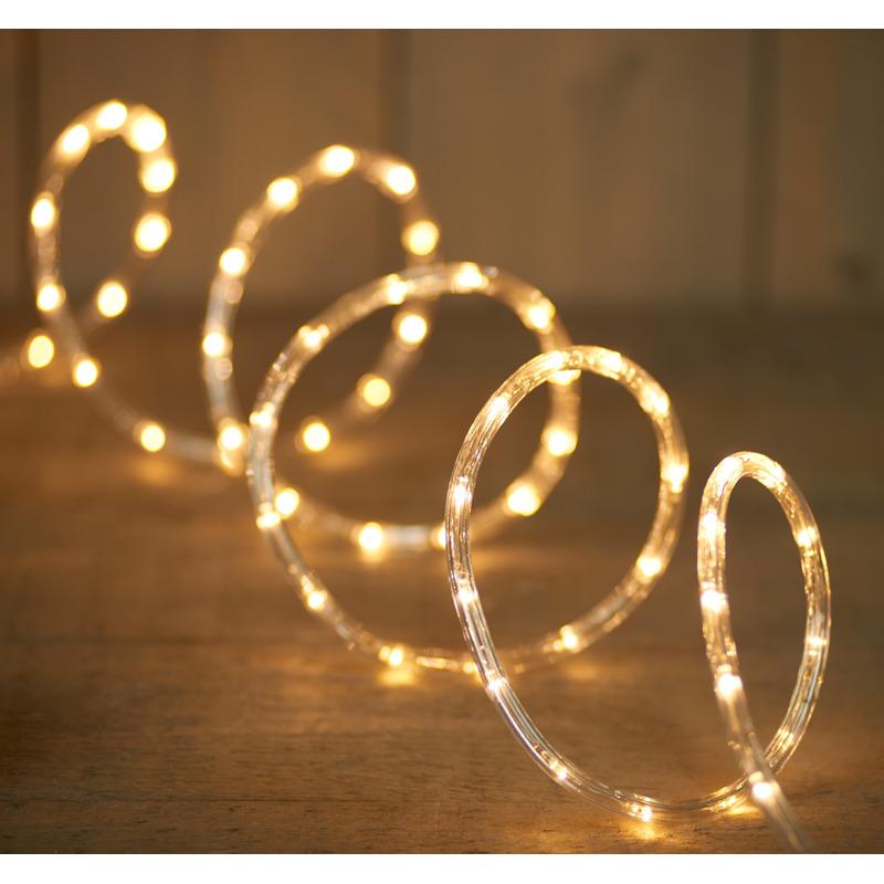 Lichtslang met 144 warm witte lampjes 6 meter feestverlichting
