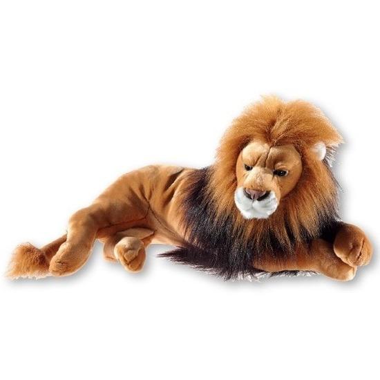 Liggende leeuwen knuffel pluche 54 cm