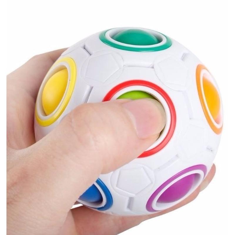 Magische anti stress regenboog puzzel bal 7 cm