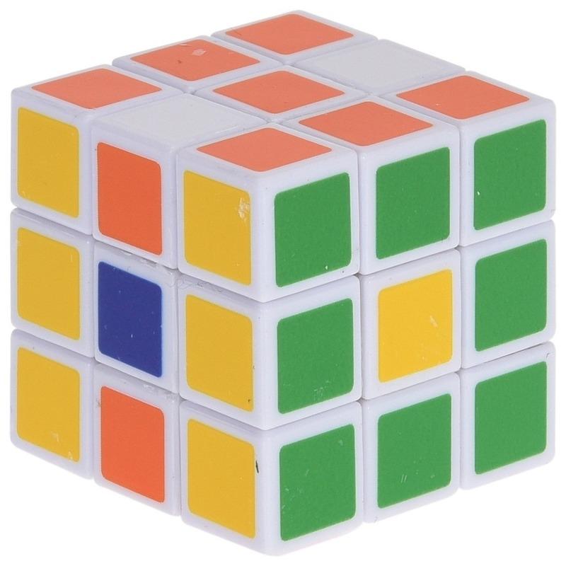 Magische kubus puzzel spelletje 3,5 cm speelgoed