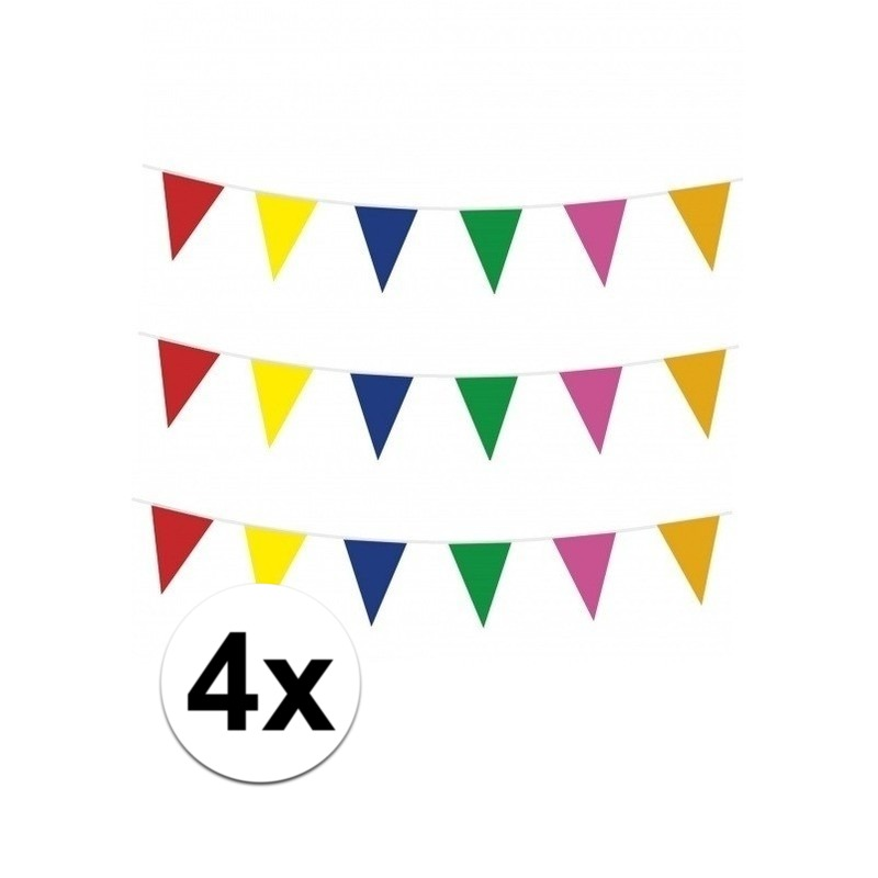 Meerkleurige vlaggenlijnen 4x