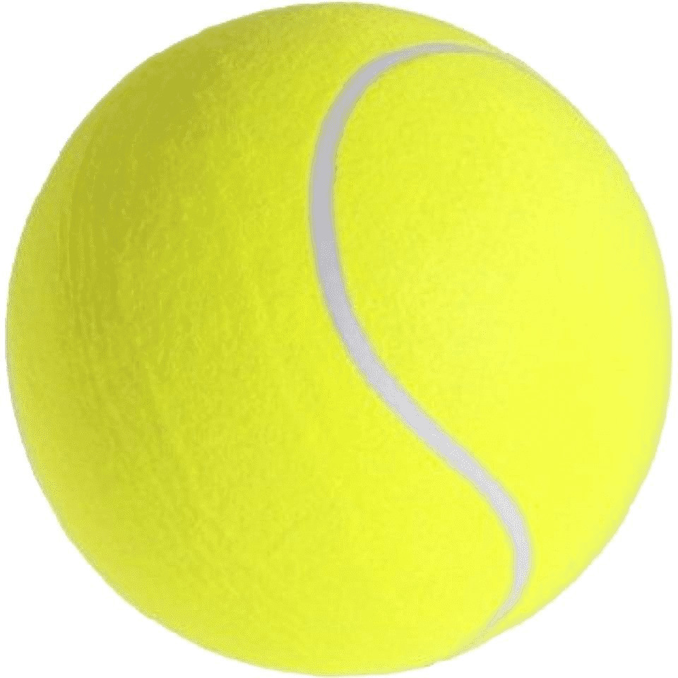 Mega tennisbal XXL geel 22 cm speelgoed-sportartikelen