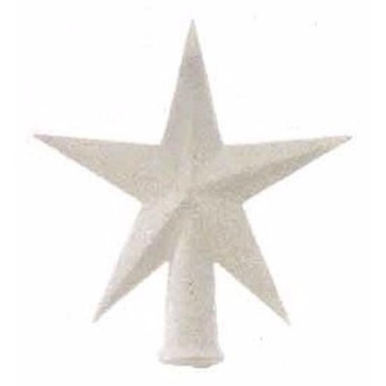 Mini piek wit met glitters 12 cm