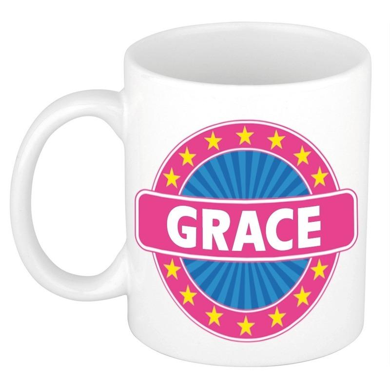 Naamartikelen Grace mok / beker keramiek 300 ml