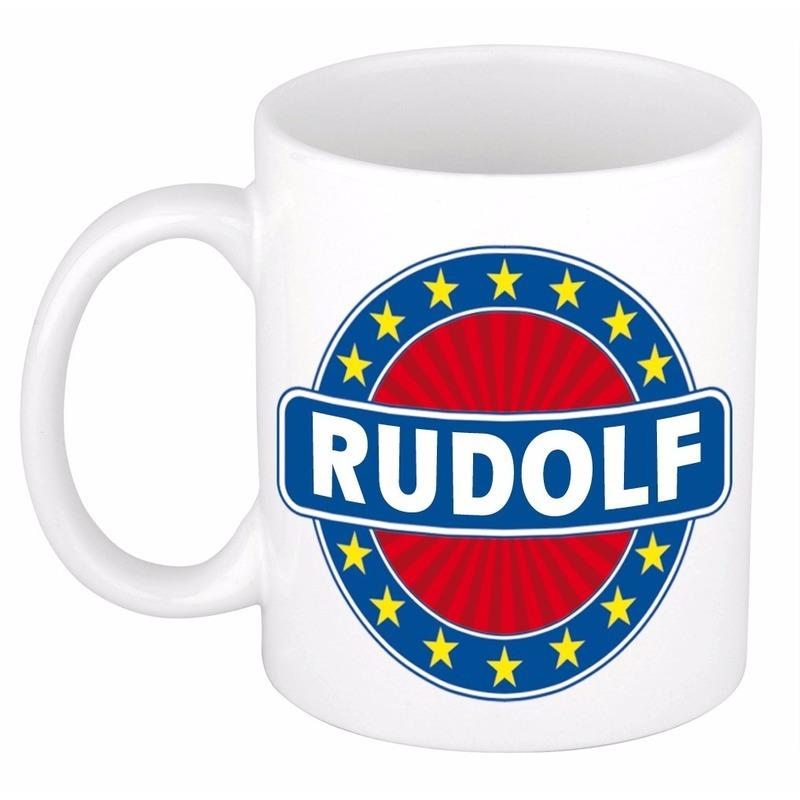 Naamartikelen Rudolf mok / beker keramiek 300 ml