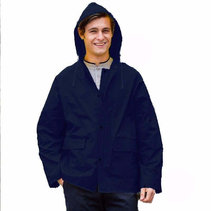 Navy blauwe PVC regenjassen voor volwassenen