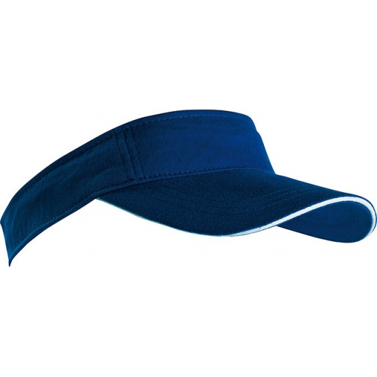 Navy blauwe zonneklep