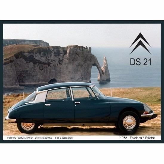 Nostagische decoratie plaat Citroen DS 21