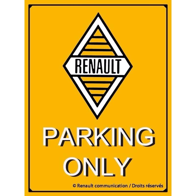 Nostagische decoratie plaat Renault