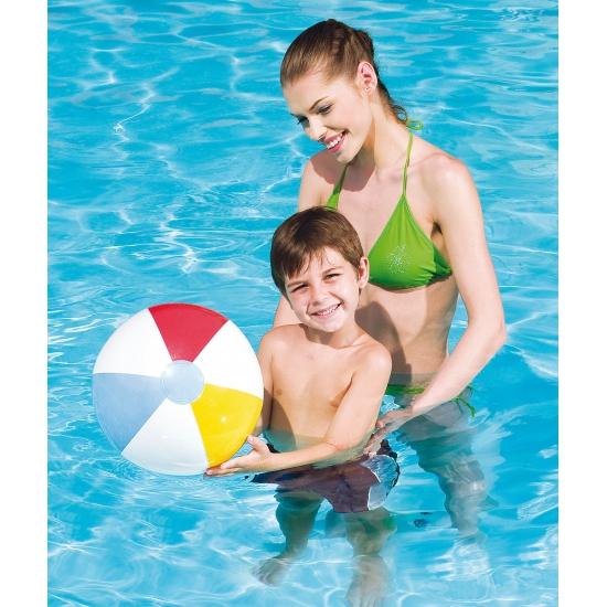 Opblaasbare strandbal gekleurd 41 cm