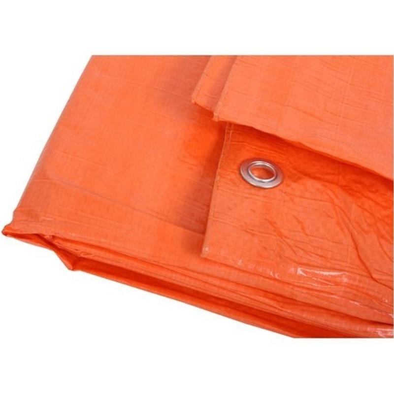 Oranje afdekzeil-dekzeil 8 x 10 meter