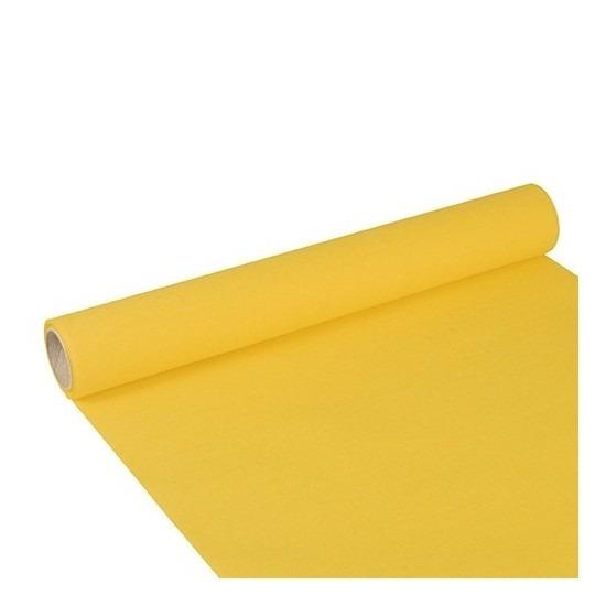 Papieren tafelloper geel 300 x 40 cm