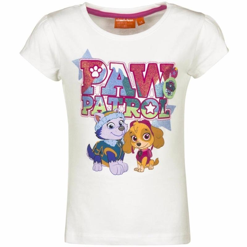 Paw Patrol Skye en Everest shirt wit