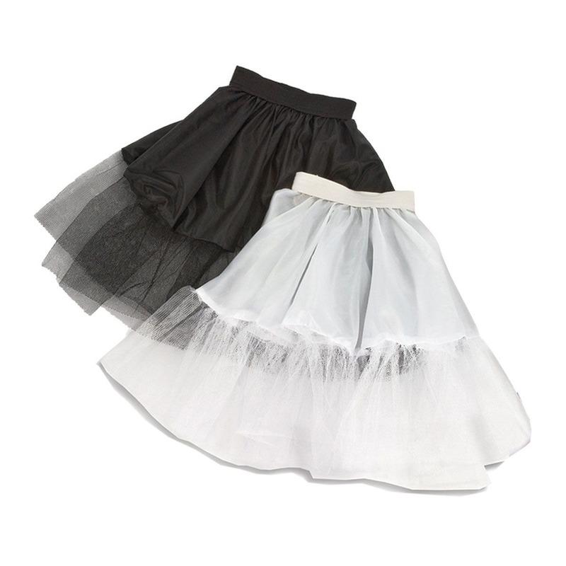 Petticoats in de kleur wit meisjes