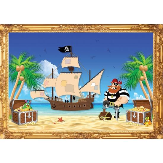Piraten wandversiering poster roodbaard