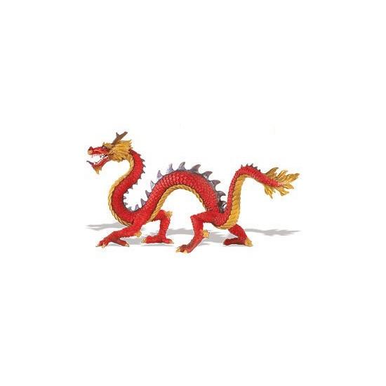 Plastic chinese draak 19 cm