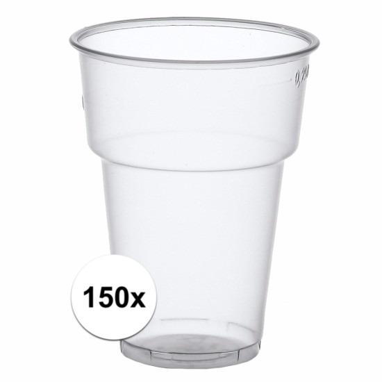 Plastic colaglazen 150 stuks
