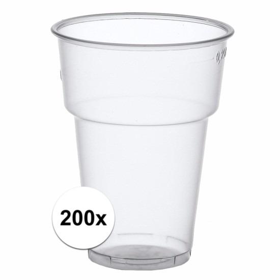 Plastic colaglazen 200 stuks