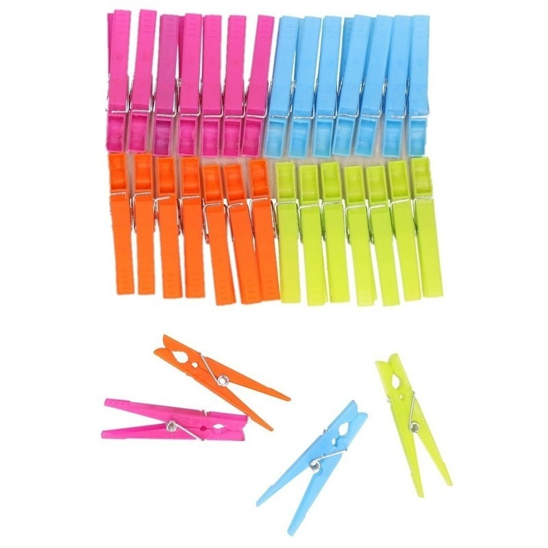 Plastic knijpers 64 stuks