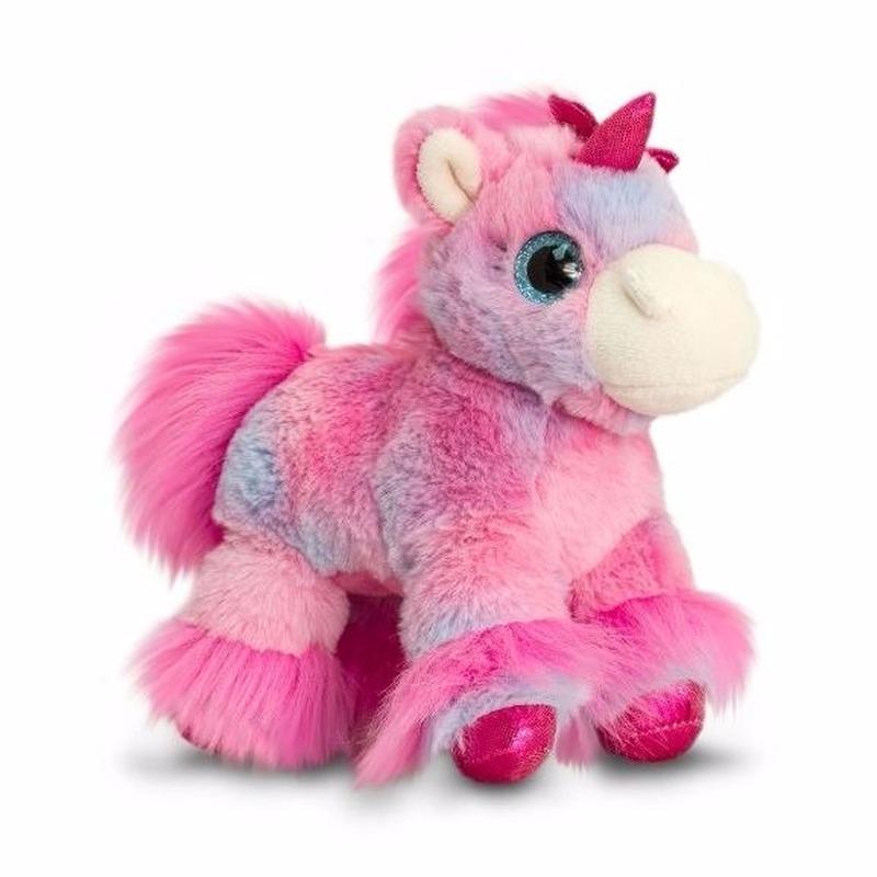 d5733770c83579 Pluche eenhoorn knuffeldier lila roze 18 cm € 8.95. Bij: partyshopper.nl
