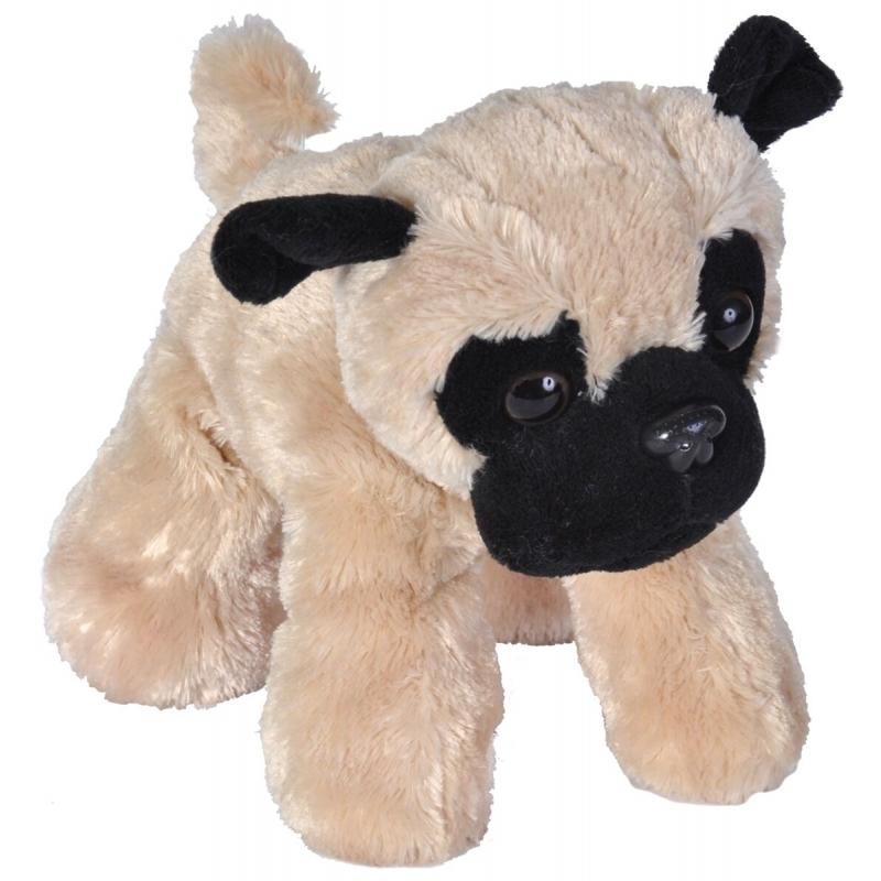 be57523f2e830d Pluche mopshond knuffel 18 cm. materiaal: pluche. deze knuffel mopshond is  ongeveer 18