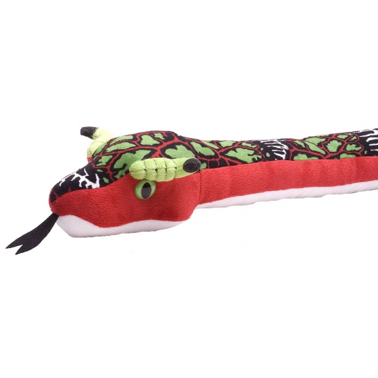 Pluche rode slang knuffels 137 cm