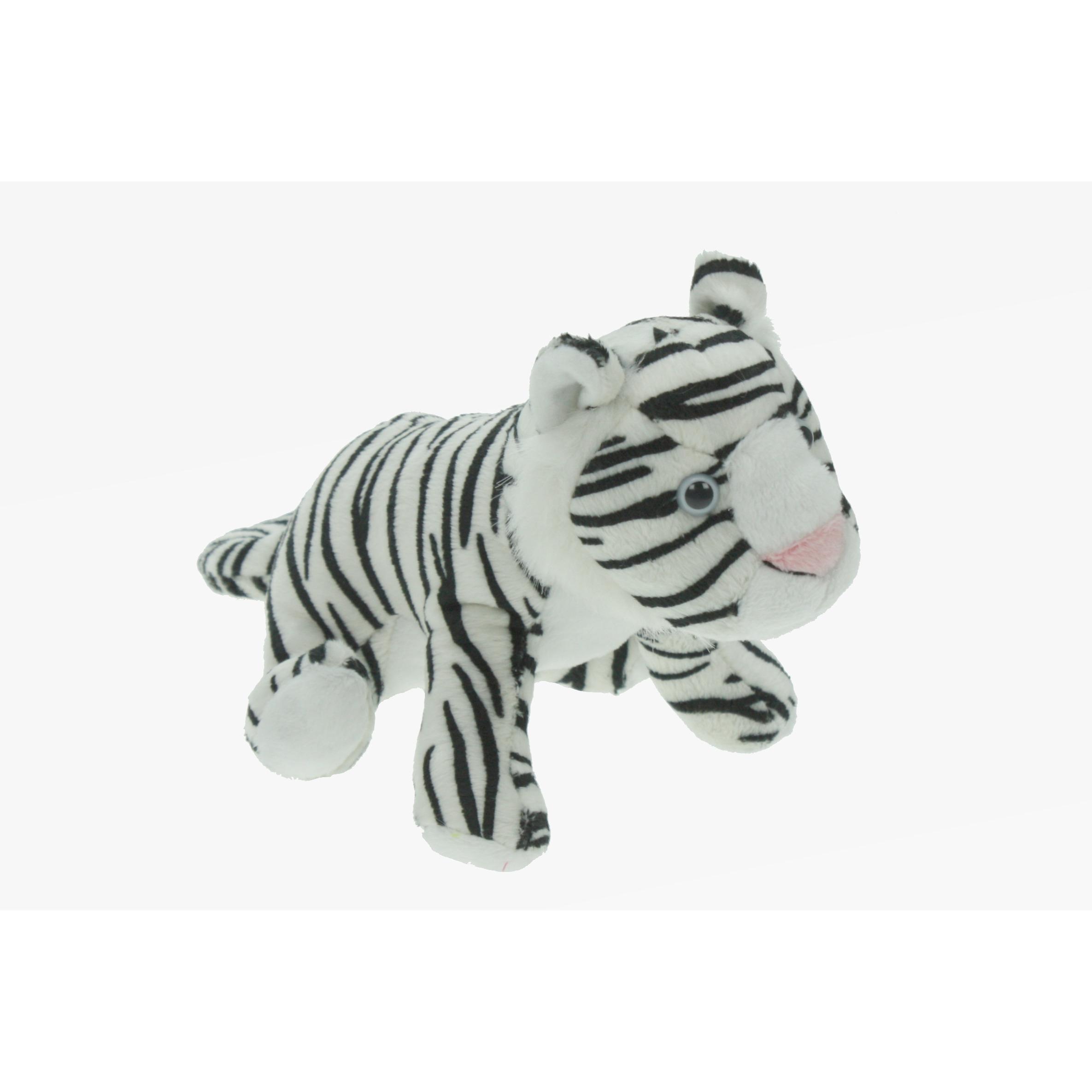 Pluche tijger knuffel wit 23 cm speelgoed knuffeldier