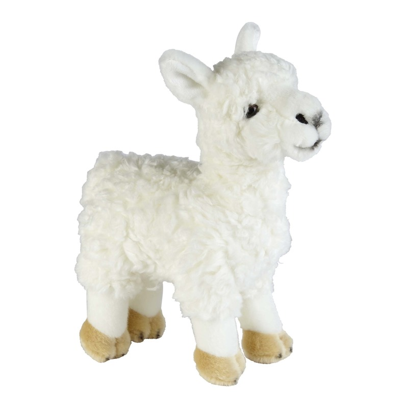 Pluche witte lama-alpaca knuffel 32 cm