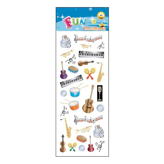 Poezie album stickers muziekinstrumenten
