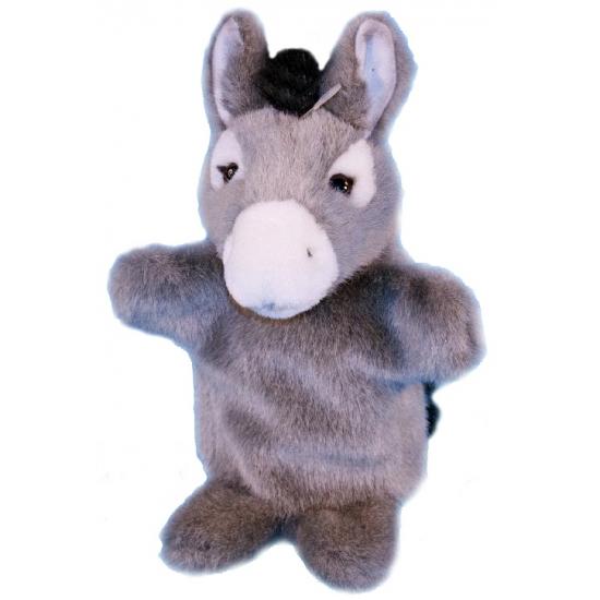 1a3ee5e4d20855 Pluche ezel handpop 28 cm. pluche ezel knuffel handpop van ongeveer 28 cm.