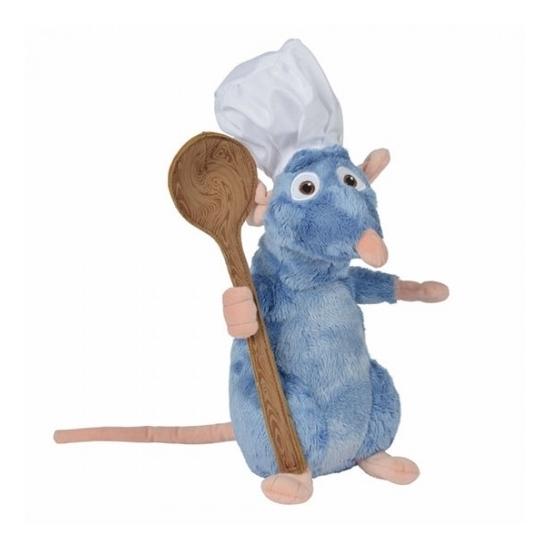 Ratatouille Disney knuffel rat Remy met lepel 25 cm
