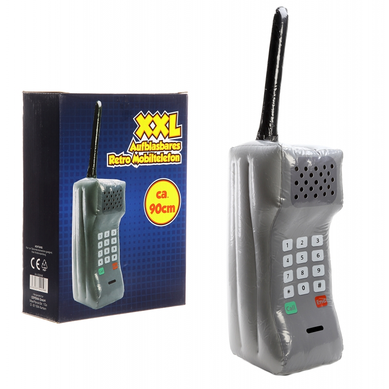 Retro telefoon opblaasbaar 90 cm