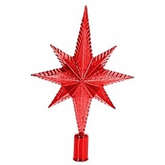 Rode kerstversiering piek 25cm
