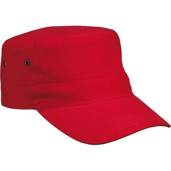 Rode rebel Militairy cap