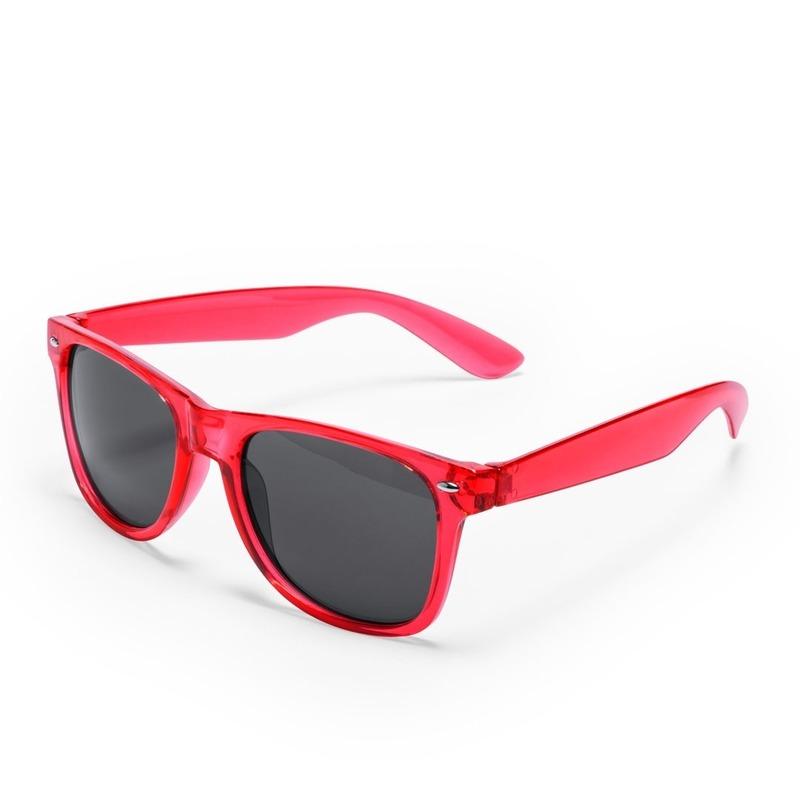 Rode retro model zonnebril voor volwassenen