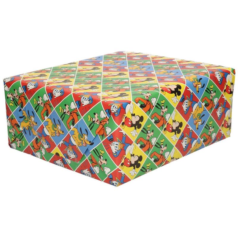 Rollen Inpakpapier-cadeaupapier Disney Mickey Donald 200 x 70 cm