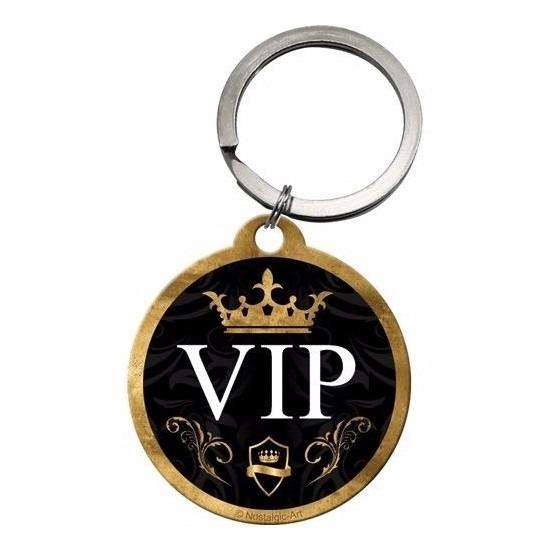 Ronde gouden sleutelhanger VIP