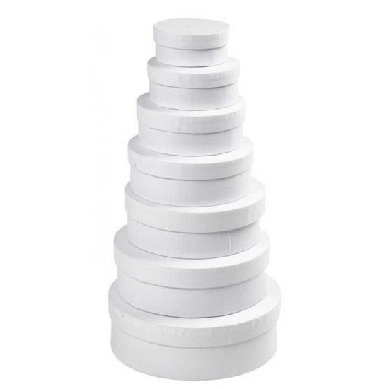 Ronde witte hobby opslag doos-dozen 12,5 cm