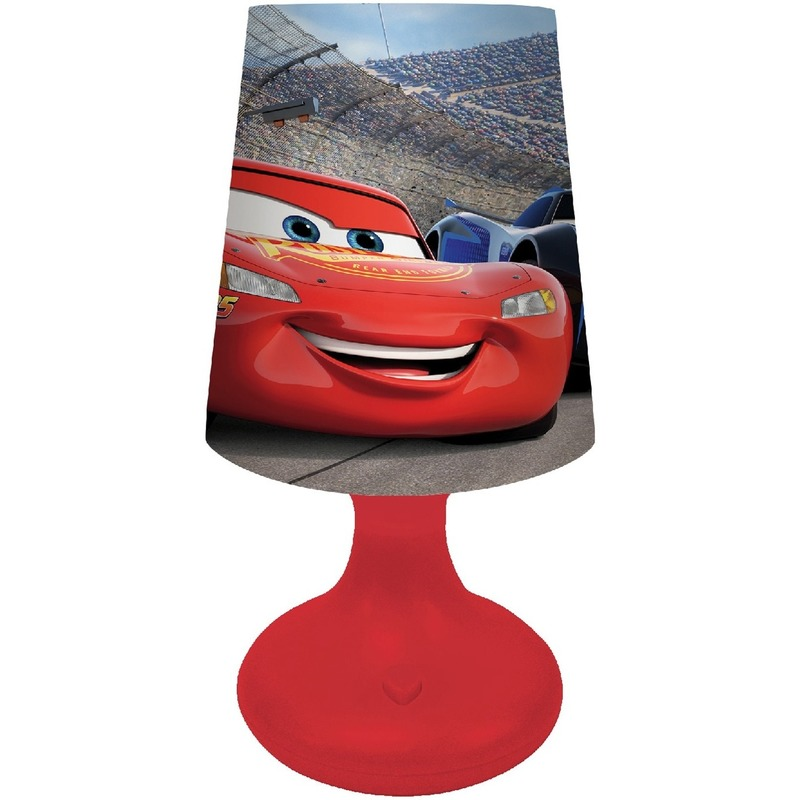 Rood Disney Cars lampje-nachtlampje voor kinderen-jongens