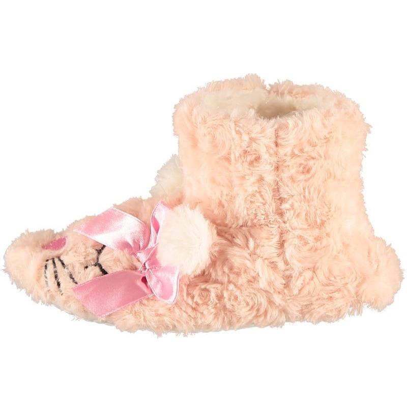 Roze hoge huispantoffels/sloffen muizen voor meisjes/peuters
