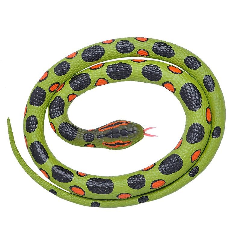 Rubberen nep anaconda decoratie slang 117 cm