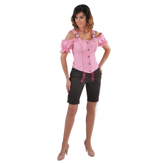 Sexy roze blouse met blote schouders