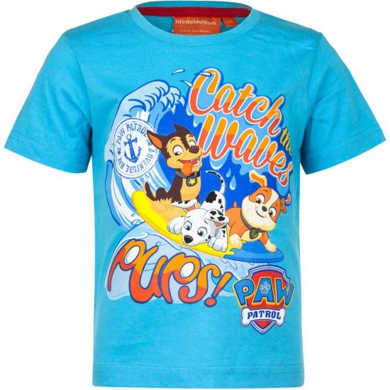 Shirt Paw Patrol blauw met korte mouwen