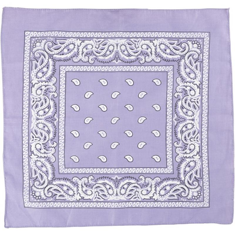 Sjaal paars met print