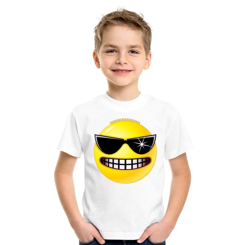 Smiley t-shirt stoer wit kinderen