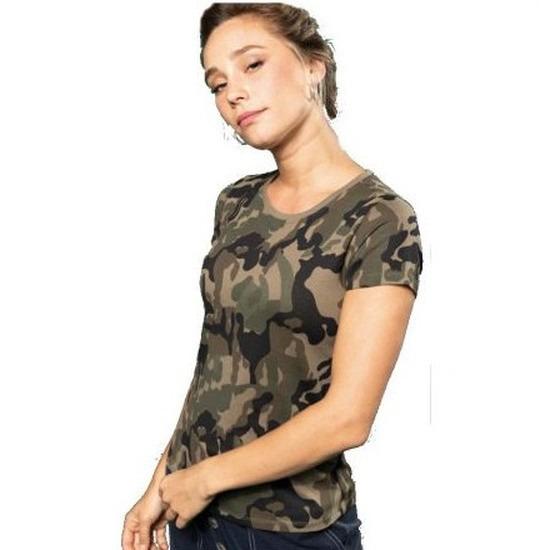 Soldaten-leger verkleedkleding camouflage shirt dames