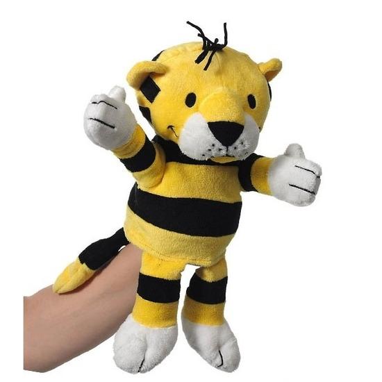 Speelgoed handpop tijgertje 22 cm
