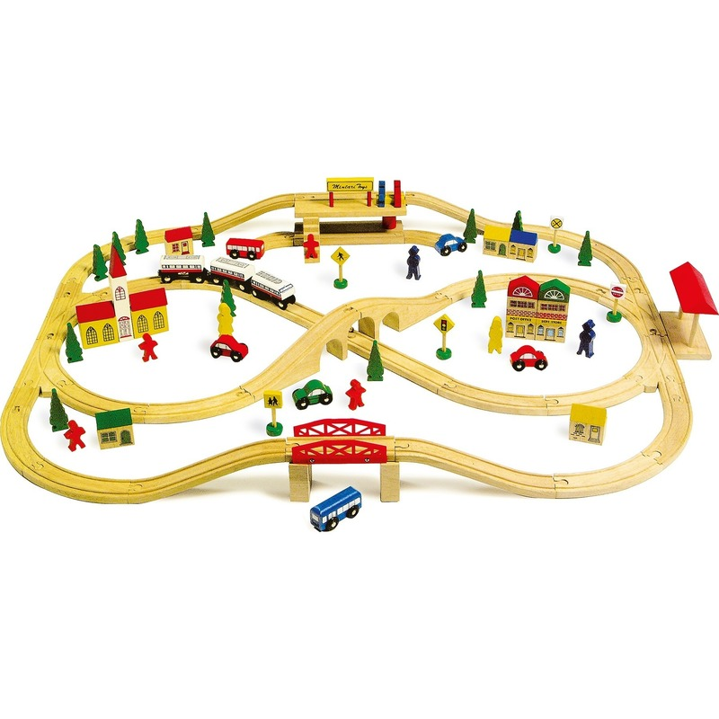 Speelgoed treinen set 101-delig
